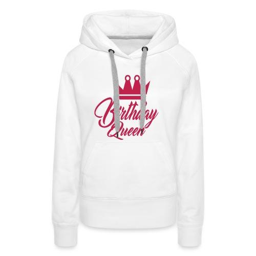 birhtday logo - Sweat-shirt à capuche Premium pour femmes