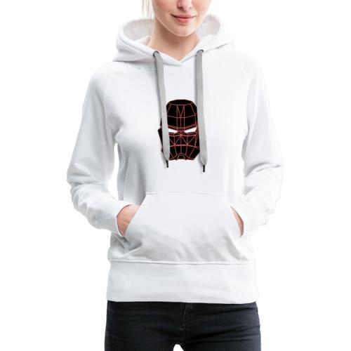 rouge masque spatial - Sweat-shirt à capuche Premium pour femmes