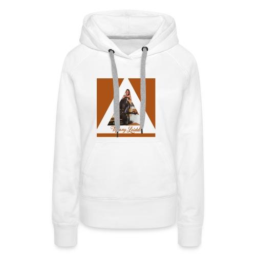 Triangle cuir - Sweat-shirt à capuche Premium pour femmes
