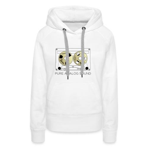 Reel gold cassette white - Women's Premium Hoodie