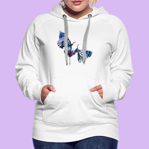 Coppia di farfalle - Felpa con cappuccio premium da donna