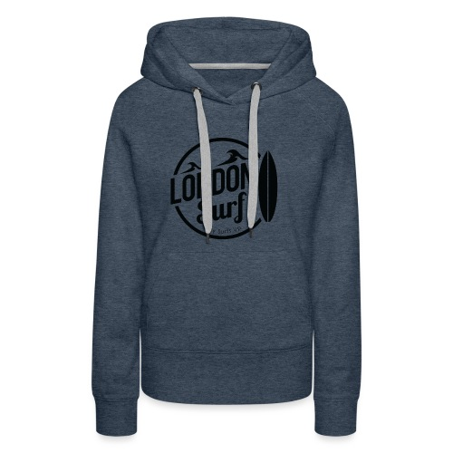 London Surf - Black - Women's Premium Hoodie