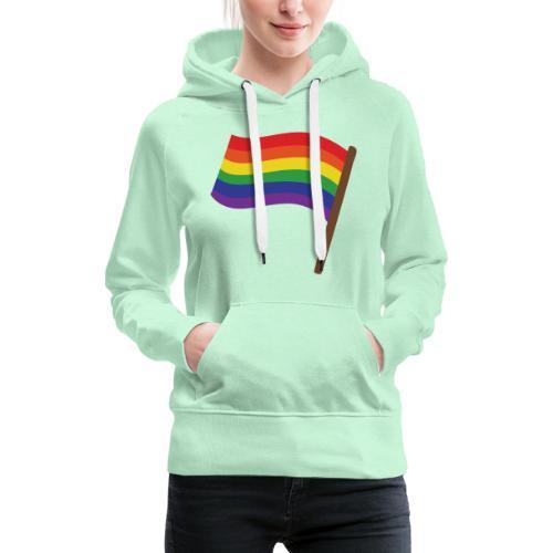 Regenbogenfahne | Geschenk Idee | LGBT - Frauen Premium Hoodie