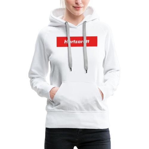 Hartzarett Boxed Logo - Frauen Premium Hoodie