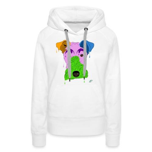 Fox Terrier - Felpa con cappuccio premium da donna