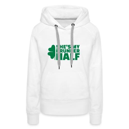 SHE'S MY DRUNKER HALF - Sweat-shirt à capuche Premium pour femmes