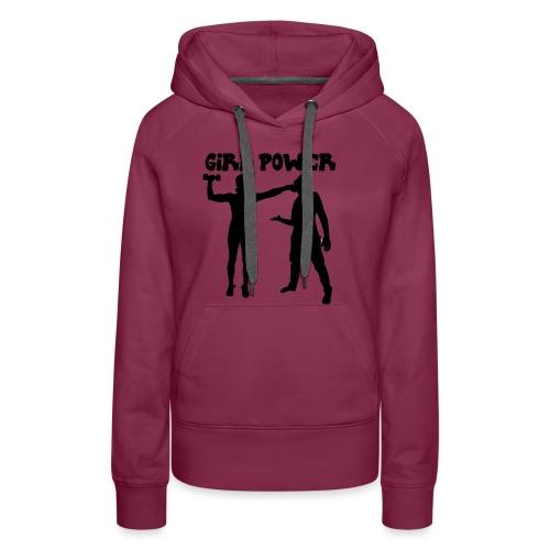 GIRL POWER hits - Sudadera con capucha premium para mujer