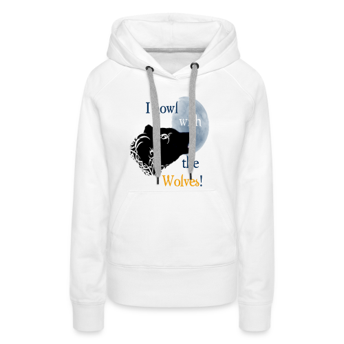Wolf howl - Frauen Premium Hoodie
