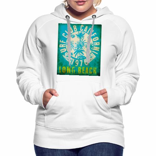 Long Beach Surf Club California 1976 Gift Idea - Women's Premium Hoodie