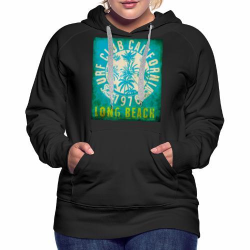 Long Beach Surf Club California 1976 Gift Idea - Women's Premium Hoodie