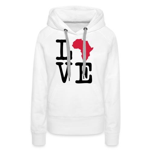 I Love Africa, I Heart Africa - Women's Premium Hoodie