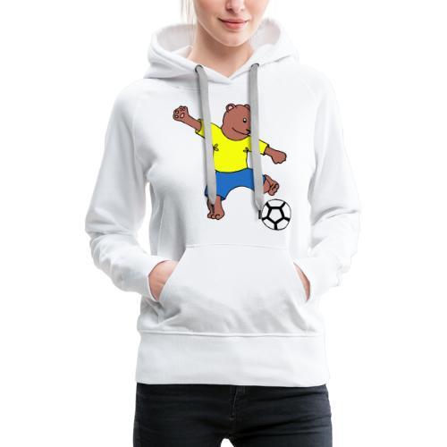 Bill le footballeur - Sweat-shirt à capuche Premium pour femmes