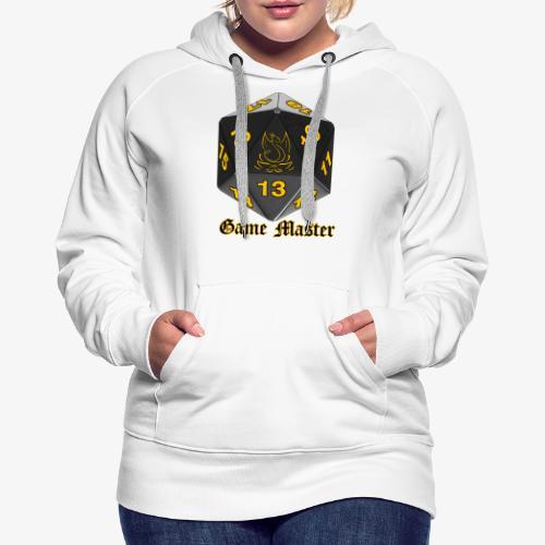 Game master yellow - Sweat-shirt à capuche Premium pour femmes