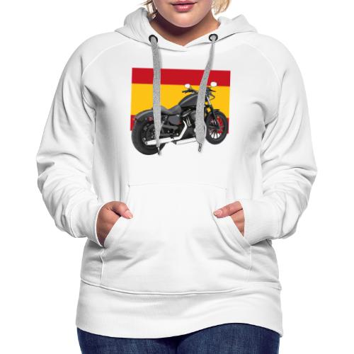 moto con la bandera de España - Sudadera con capucha premium para mujer