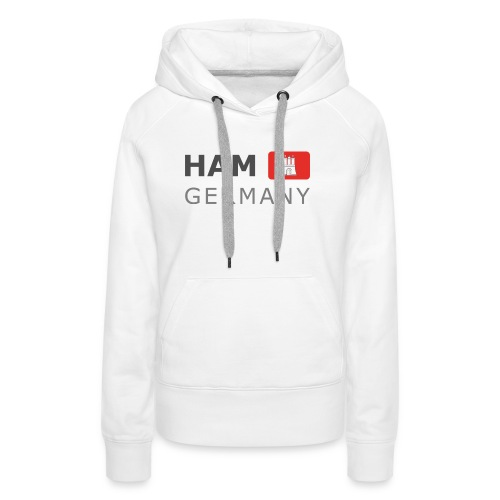 HAM GERMANY HHF dark-lettered 400 dpi - Women's Premium Hoodie