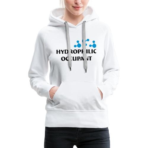 Hydrophilic Occupant (2 colour vector graphic) - Women's Premium Hoodie