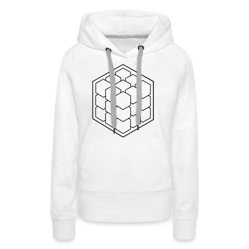 Cubik Monochrome - Sweat-shirt à capuche Premium pour femmes