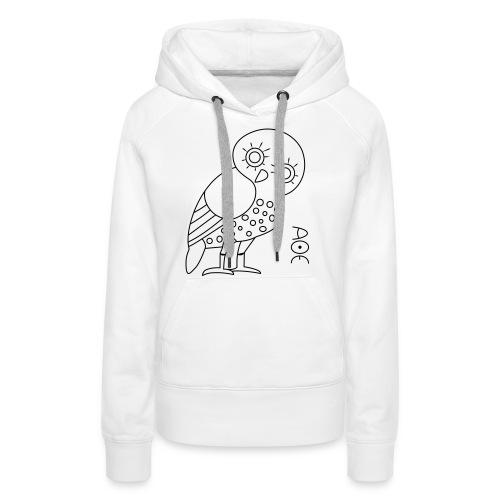 Owl of Athena - Women's Premium Hoodie