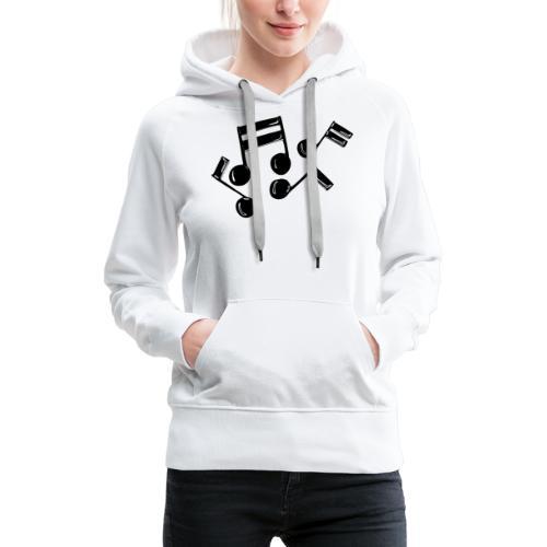 Musik Symbol Noten Musiker Musikerin spielen - Frauen Premium Hoodie