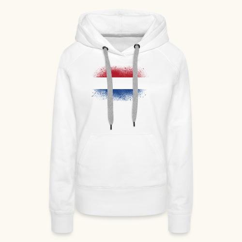 Drapeau hollandais, cadeau drôle - Sweat-shirt à capuche Premium pour femmes