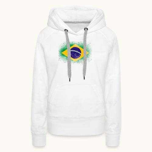 Drapeau brésilien cadeau du Brésil - Sweat-shirt à capuche Premium pour femmes