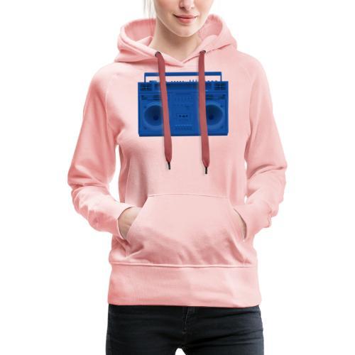 Bestes Stereo blau Design online - Frauen Premium Hoodie