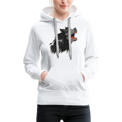 Cartoon Werwolf Design - Frauen Premium Hoodie