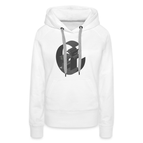 3D Miami Palm Trees Badge - Women's Premium Hoodie