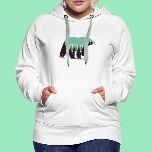 Forest bear - Vrouwen Premium hoodie