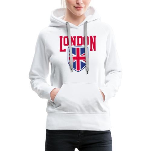 London Souvenir - London Wappen Flagge - Frauen Premium Hoodie