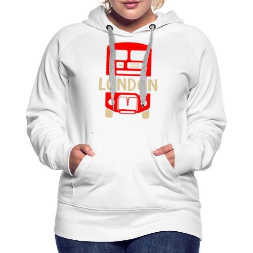 London Bus Roter Doppeldecker London Fan Souvenir - Frauen Premium Hoodie