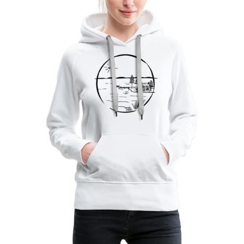 île idyllique - Sweat-shirt à capuche Premium pour femmes