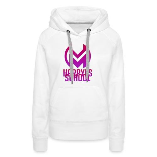 LOGO + TEXTE Harpyes GLOW - Sweat-shirt à capuche Premium pour femmes