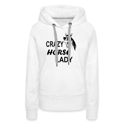 Crazy Horse Lady - Frauen Premium Hoodie