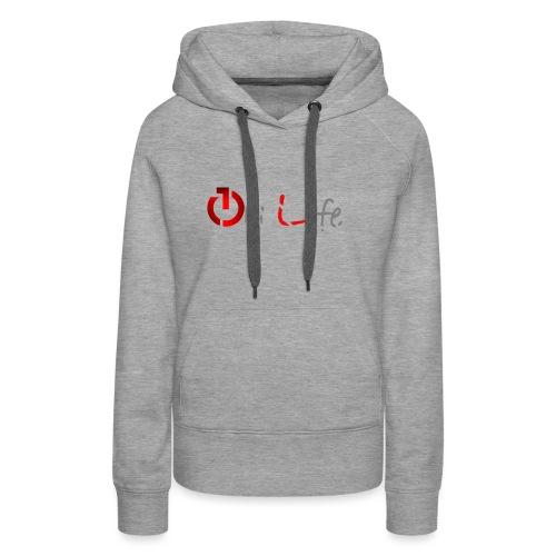 OnLife Logo - Sweat-shirt à capuche Premium pour femmes