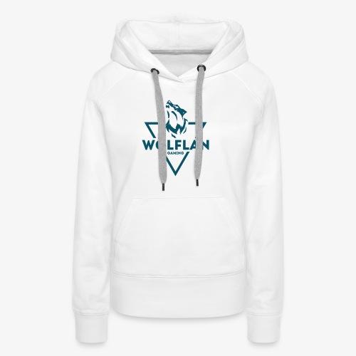 WolfLAN Logo Gray/Blue - Women's Premium Hoodie