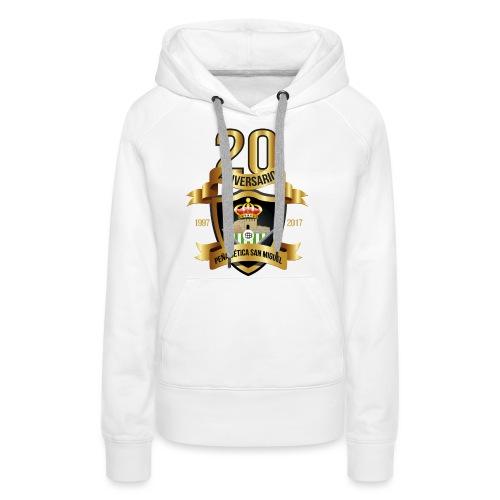Camiseta Escudo 20 Aniversario - Sudadera con capucha premium para mujer