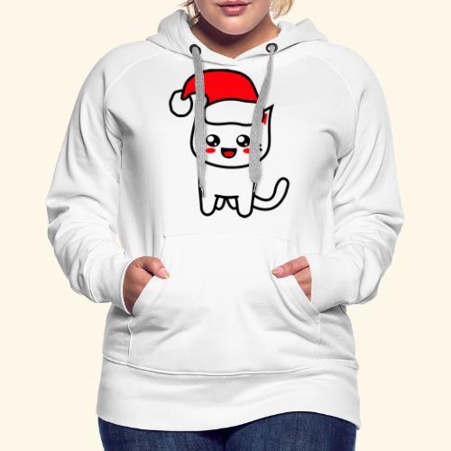 Kawaii Kitteh Christmashat - Frauen Premium Hoodie