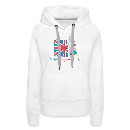 Funny United Kingdom Shopping Shirt - Women's Premium Hoodie