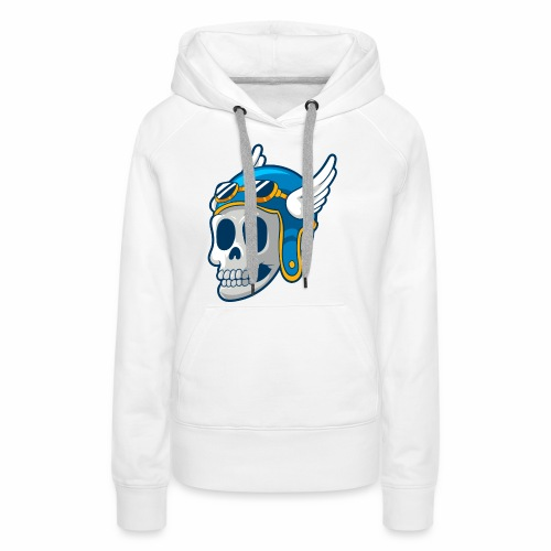 Skull with winged Helmet - Women's Premium Hoodie