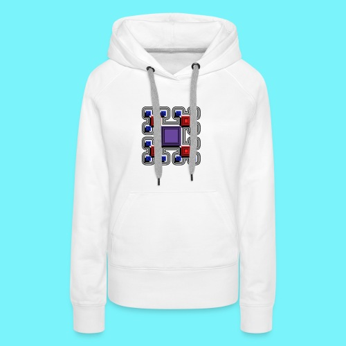 Blocks with lines and solid shadows - Women's Premium Hoodie