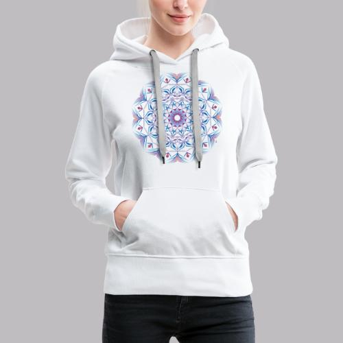 Mandala - Felpa con cappuccio premium da donna