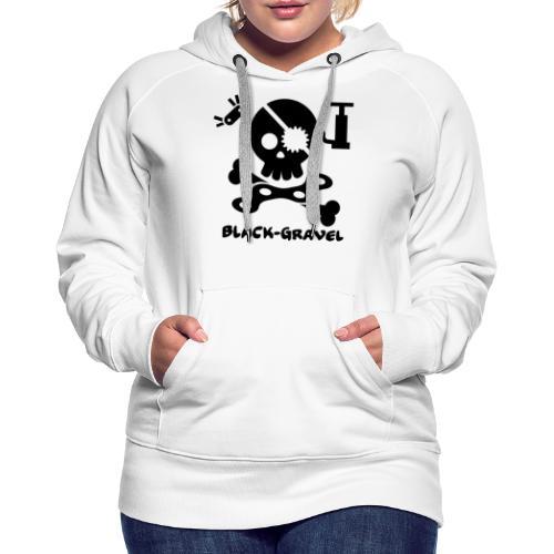 Black T-Shirts Sport - Felpa con cappuccio premium da donna