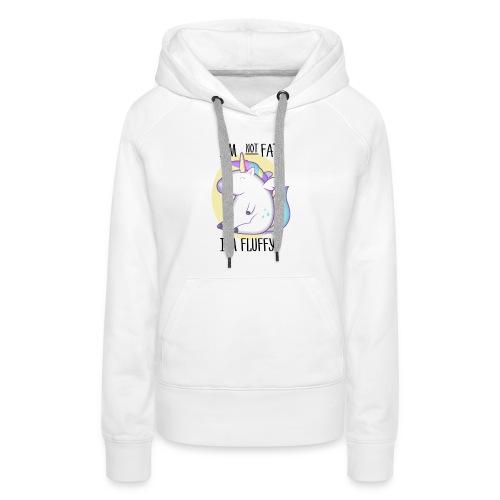 unicorno - Felpa con cappuccio premium da donna