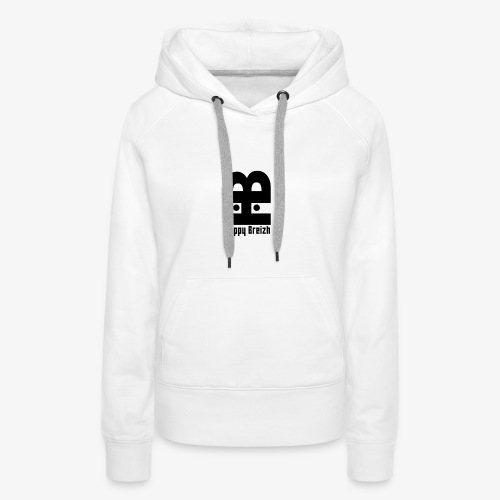 happy breizh logo - Sweat-shirt à capuche Premium pour femmes