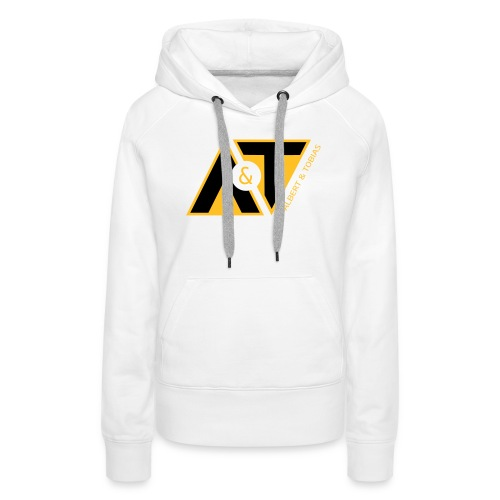 A & T - logo - S/H - Dame Premium hættetrøje