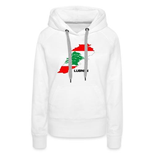 libanon landkarte - Frauen Premium Hoodie