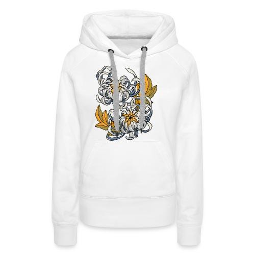 Chrysanthèmes enlacés - Sweat-shirt à capuche Premium pour femmes