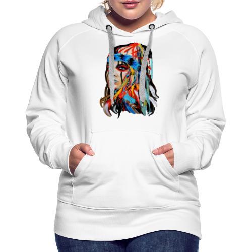 Pióra i pióropusze - Bluza damska Premium z kapturem