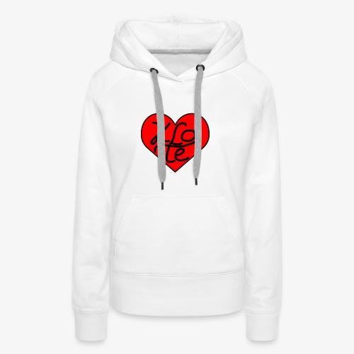 Klote Hartje - Vrouwen Premium hoodie